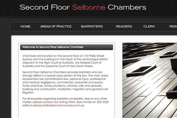 Barristers chambers website