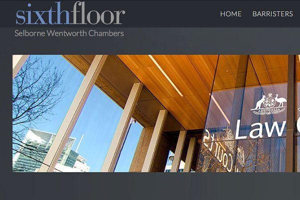 Barristers' Chambers website